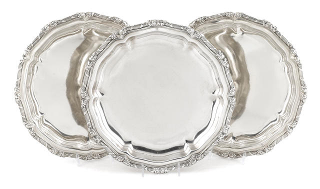 A set of three George IV sterling silver  dishes by Paul Storr, London,  1826