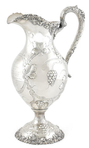 An American  sterling silver  presentation wine ewer retailed by Rodgers & Krull, Louisville, KY,  circa 1908