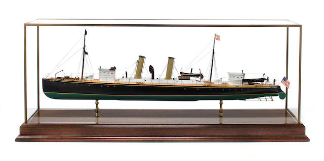 A model of the commuter yacht Tarantula<BR /> 45 x 11 x 18 in. (114.3 x 27.9 x 45.7 cm.) cased.
