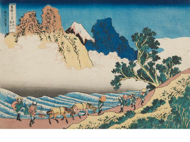 Katsushika Hokusai (1760-1849)<BR />One woodblock print
