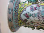 A pair of famille rose enameled porcelain  vases  Late Qing dynasty