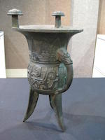 A group of three archaistic bronze vessels
