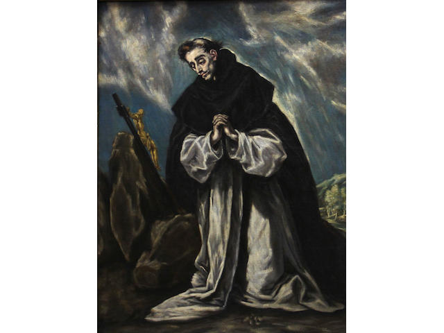 After Domenikos Theotokopoulos, called El Greco Saint Dominic in prayer 40 x 30in