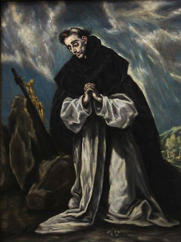 After Domenikos Theotokopoulos, called El Greco Saint Dominic in prayer 40 x 30in