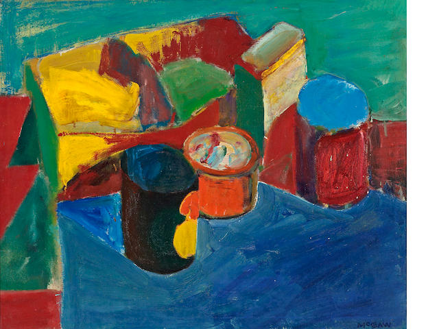 Bruce McGaw (born 1935) Studio still life 20 1/4 x 25in (51.4 x 63.5cm)