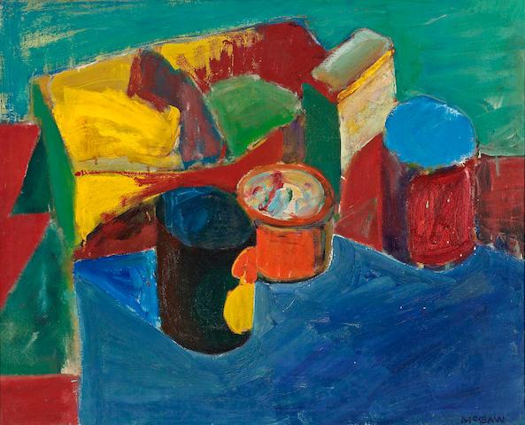Bruce McGaw (born 1935) Studio still life 20 1/4 x 25in (51.4 x 63.5cm)