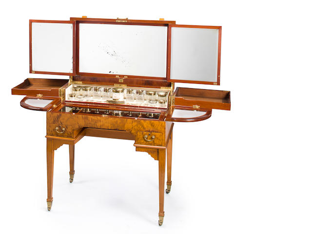 An Edwardian Fruitwood Dressing Table