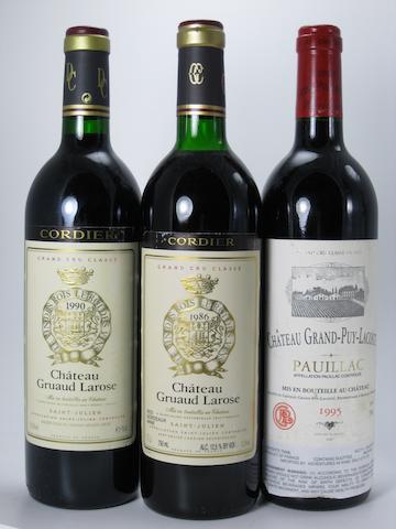 Château Grand-Puy-Lacoste 1995 (1)<BR />Château Gruaud-Larose 1986 (1)<BR />Château Gruaud-Larose 1990 (1)<BR />Château Pichon-Lalande 1994 (2)<BR />Château Pichon-Lalande 1996 (1)<BR />Château Pichon-Lalande 1997 (3)