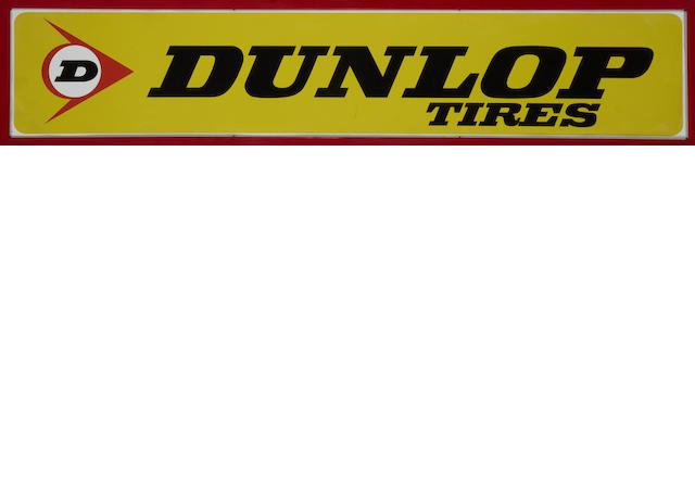 A Dunlop tires banner sign, c.1960s,