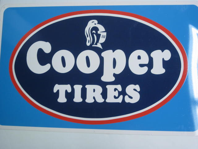 A NOS Cooper tires sign, c. 1960s,