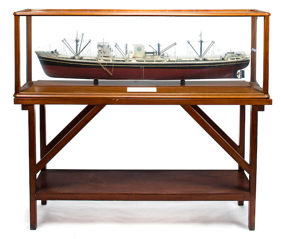 A builder's presentation model of the M.S. Aghios Spydrion<BR /> circa 1957 72 x 18 x 24 in. (182.8 x 45.7 x 60.9 cm.) cased. 2