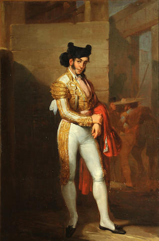 Spanish School, 19th Century The matador 27 1/4 x 18 1/4in