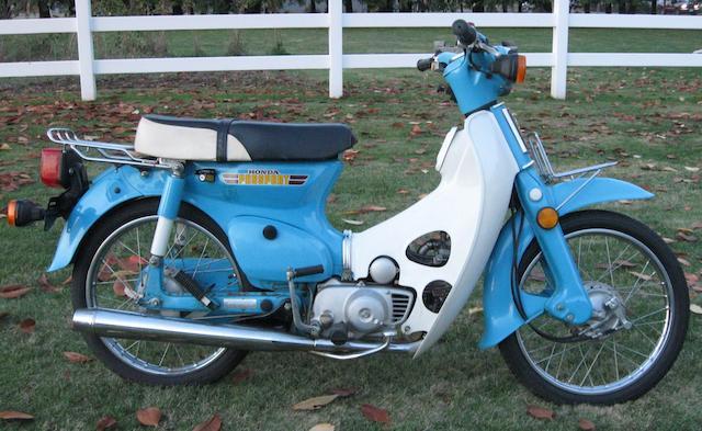 1981 Honda C70 Frame no. DA0109BS100478 Engine no. DAO1E2100471