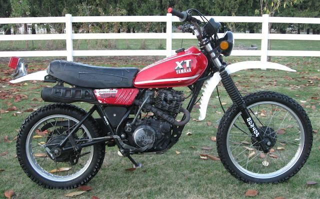 1980 Yamaha XT250 Frame no. 3Y1-004853 Engine no. 3Y1-004853