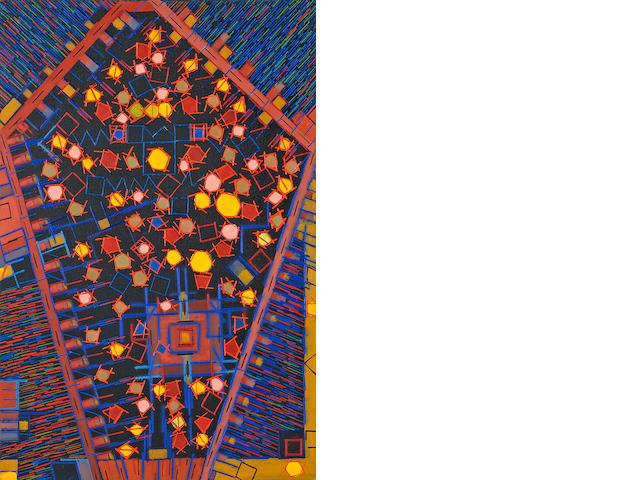 Lee Mullican (1919-1998) Untitled, 1974 36 x 24in (91.4 x 61cm) unframed