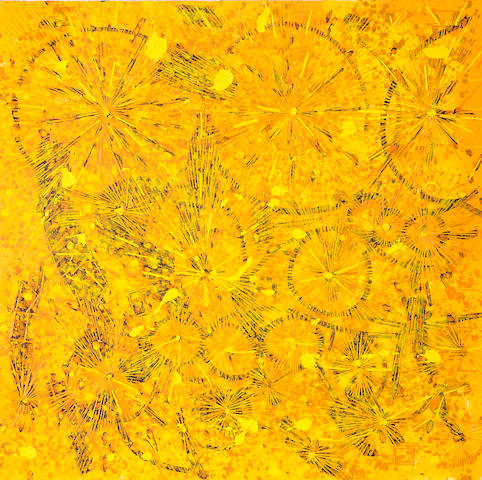 Lee Mullican (1919-1998) Untitled, 1995-96 36 x 36in (91.4 x 91.4cm) unframed
