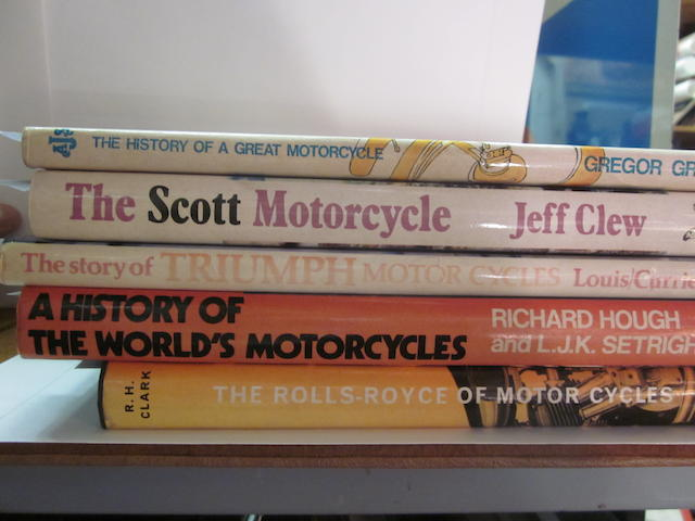 A collection of British make motorcycle titles,