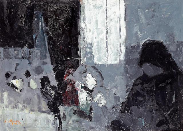 Teruko Yokoi (born 1924) Midday, 1955 36 x 50in (91.4 x 127cm)