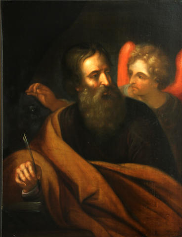 Italian School, 18th Century Saint Matthew; Saint John the Evangelist (a pair) 30 3/4 x 24 1/4in