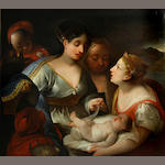 Italian School, After Luca Giordano? SENDING TO BK The presentation of the infant Moses to Pharaoh's daughter 43 3/4 x 48 1/2in