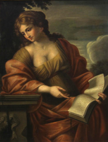 After Giovanni Francesco Romanelli, SENDING TO BK The Cumean Sibyl 40 3/4 x 30in