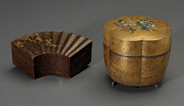 Two lacquer boxes Meiji period