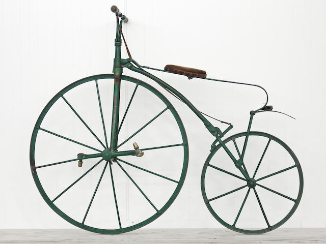 "A 19th century ""Bone Shaker"" bicycle,"