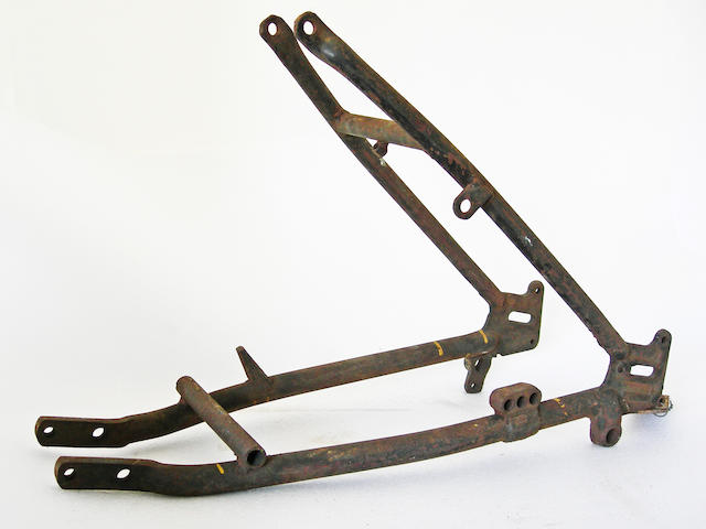 An Indian Sport scout rear frame section.