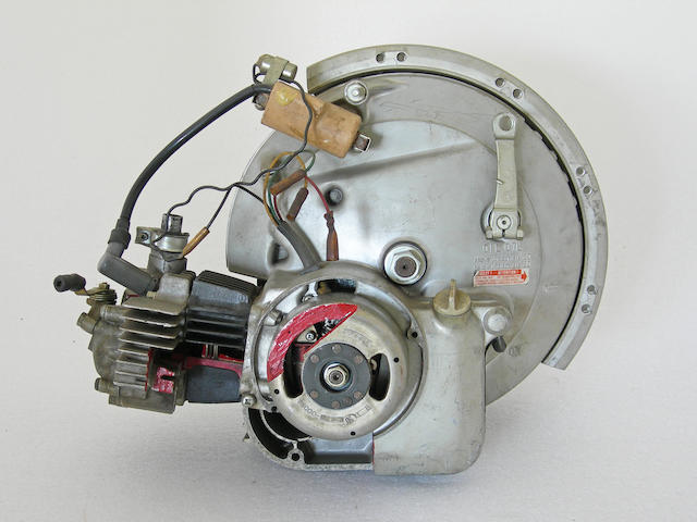 A cut away motor wheel.