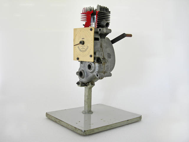 A German single cylinder cut away engine,