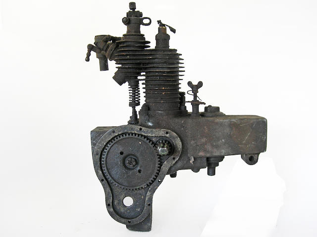 "An early ""Auto Wheels"" motorcycle engine,"