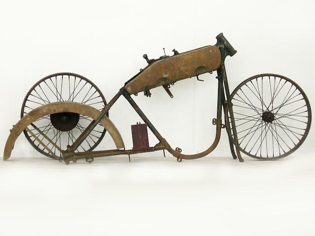 A Harley-Davidson rolling chassis, c. 1910,