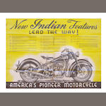 An Indian Motorcycle promotional poster,
