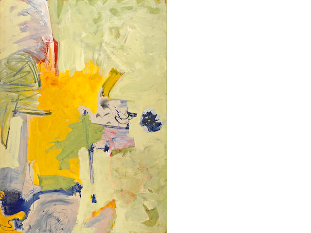 Hassel Smith (1915-2007) Untitled Yellow, 1960 67 3/4 x 47 3/4in (172.1 x 121.3cm)