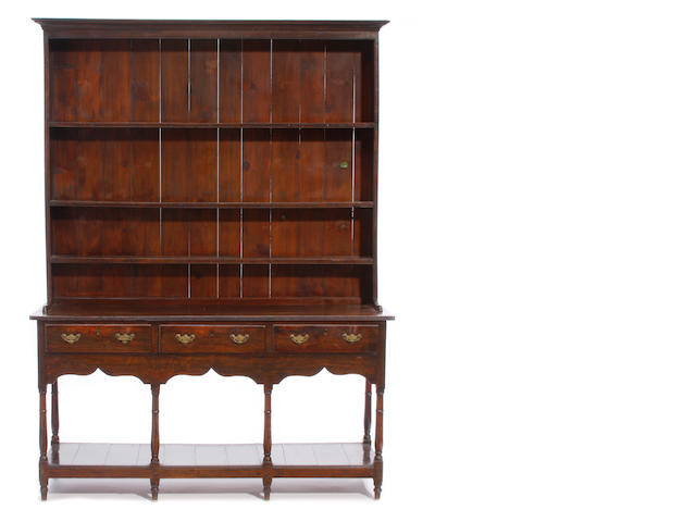 A George III Provincial oak high dresser