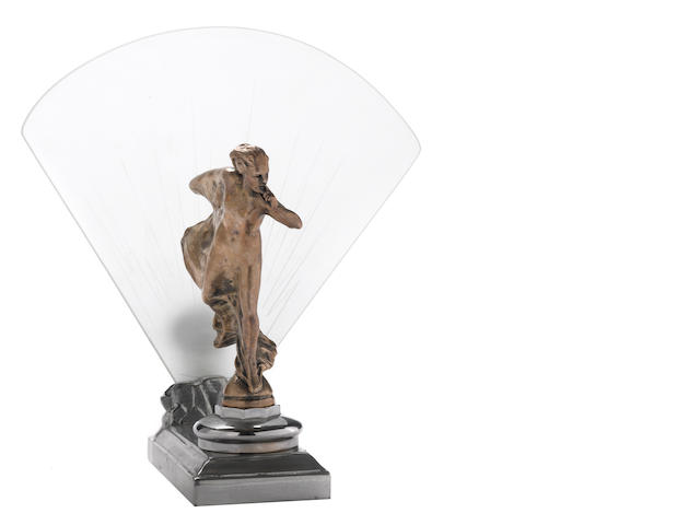 A 'Whisper' mascot after Charles Sykes mounted as an Art Deco desk lamp,