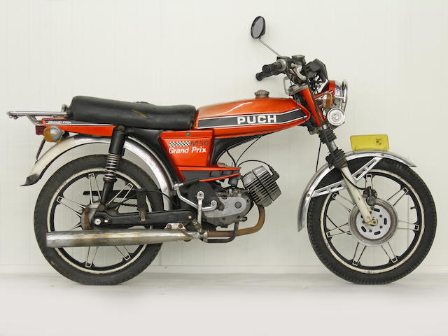 From a Prominent European Collection,,c.1976 Puch M50 Grand Prix 49cc Moped Frame no. 2105581 Engine no. 2103987