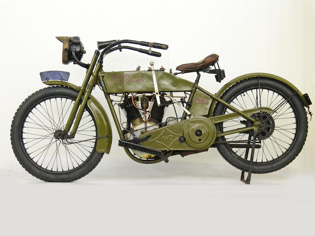 From a Prominent European Collection,,1915 Harley-Davidson Model 11F Frame no. 6697 Engine no. 7269