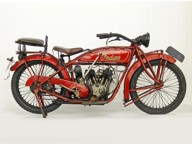 From an Important European Collection,1923 Indian Scout Frame no. 1411 Engine no. 51T951