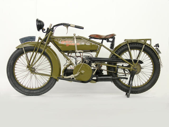 c.1919 Harley-Davidson Model W Sport Frame no. 2868 Engine no. 21W1229