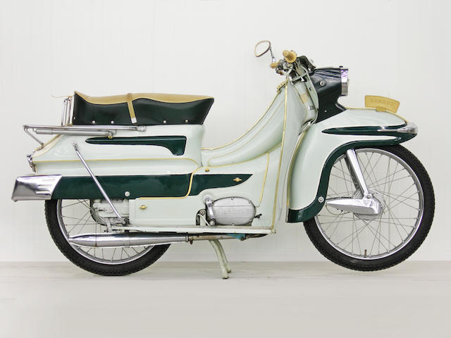 "1960s Flandria Avaros ""Kingline DeLuxe"" Scooter Frame no. 27031 Engine no. 570216"