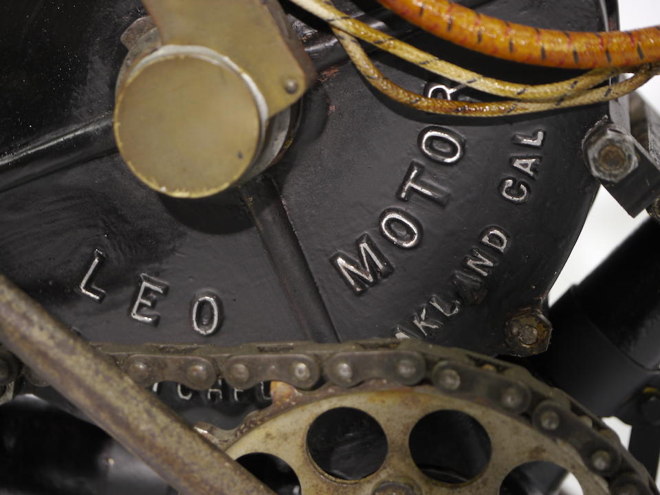 "The sole and long believed lost example of the Oakland, California manufacturer ,1905 L.A Mitchell Motor Company - ""LEO Two-Cycle""   Frame no. 003"