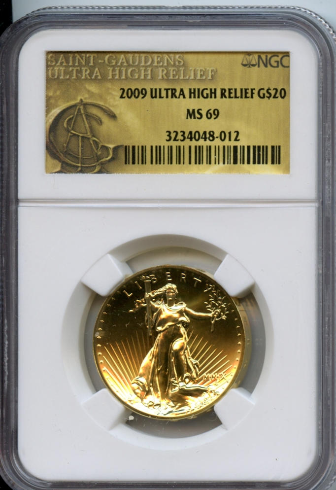 2009 $20 Ultra High Relief MS69 NGC
