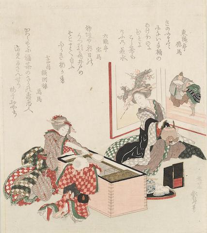 Katsushika Hokusai (1760-1849) One surimono