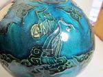 A fahua style enameled stoneware vase Late Qing dynasty