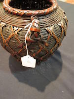A group of three bamboo baskets Taisho/Early Showa period