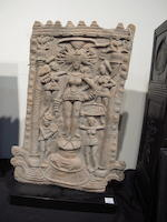 A terracotta panel of a Yakshi North or Eastern India, Sunga period, ca. 200-50 B.C.