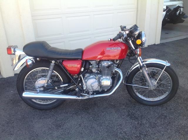 1975 Honda  CB400 Frame no. CB400F1038359 Engine no. CB400FE1038462