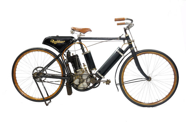 One of the earliest American motorcycles, progenitor of the Pope motorcycle,1902 Rambler  2¼hp Model 'B' Motorcycle Frame no. 280 Engine no. 280
