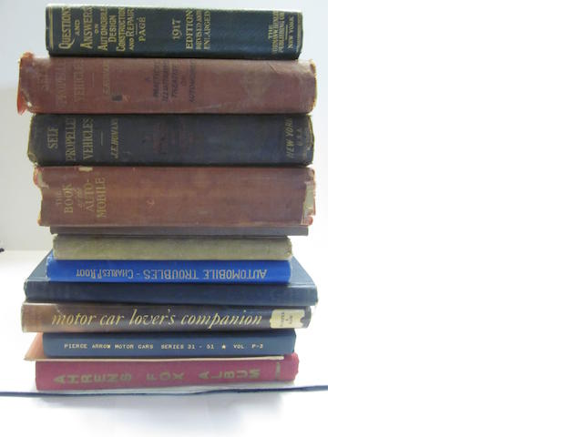 A grouping of early motoring titles,